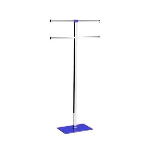 Gedy Rainbow Steel and Resin Towel Rack, Blue
