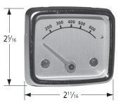 BBQ Grill Heat Indicator Universal bolt-on replaces most factory installed indicators with 1 1/2 bolt centers. Stainless steel case. Fits BBQ Galore old Models ()