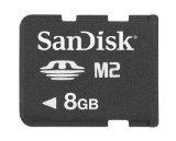 SanDisk SDMSM2-008G-A11M 8GB M2 Memory Stick Micro (Black) - Micro M2 Stick