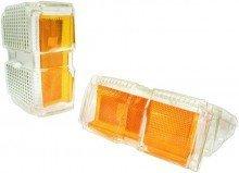 1971 El Camino Parking Lamp Lenses Clear Front/Amber Side