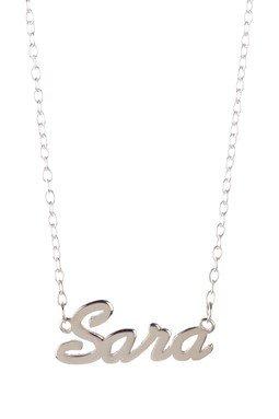 Gigi and Leela SP328 Sterling Silver Necklace - Sara Nameplate