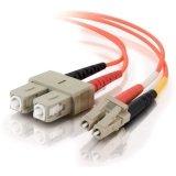 Plenum Fiber Cable Optic (C2G/Cables to Go 38610 LC/SC Plenum-Rated Duplex 62.5/125 Multimode Fiber Patch Cable (6 Meter, Orange))