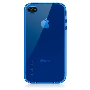 Belkin High Gloss Silicone Case for Apple iPhone 4 - Blue ()