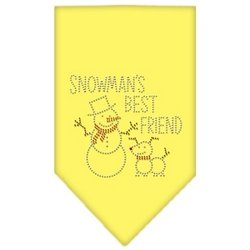 Snowmans Best Friend Rhinestone (Snowman's Best Friend Rhinestone Bandana Yellow Small)