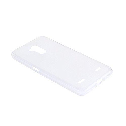 Lusee® Funda de silicona para ZTE blade V7 lite / ZTE Blade V6 Plus 5.0 pulgada Suave Cascara TPU blanco semi transparente