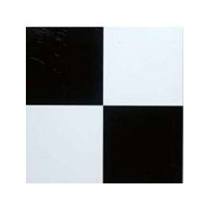 Black and White Self Stick Vinyl Floor Tiles 10015 Home Dynamix - 1 ...