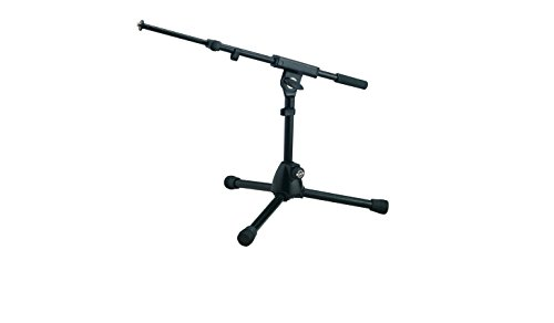 (K & M Microphone Stand - very low level w/2 piece boom arm)