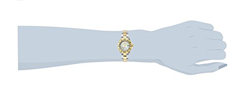 Invicta Women's 6895 Pro-Diver Stainless Steel 18k Yellow Gold-Plated and Mother-of-Pearl Bracelet Watch