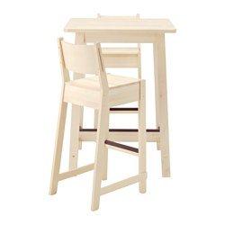 Ikea Bar Table And 2 Bar Stools, White Birch, White Birch 2204.20517.2918
