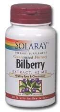 Bilberry Extract 42mg Solaray 120 Caps (Solaray Bilberry Extract)