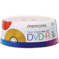 Memorex DVD Recordable Media - DVD-R - 16x - 4.70 GB - 25 Pack Spindle 05706 by Memorex