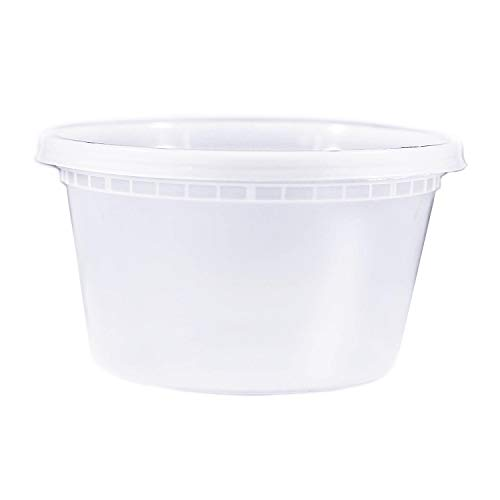 - EDI 50 Sets Plastic Food Storage Plastic Containers with Lids (12 OZ)