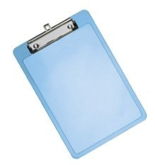 Acrimet Clipboard Memo Size Low Profile Clip (Blue Color) (Pack - 3) Photo #2
