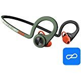 Plantronics BackBeat FIT Training Edition Sport Earbuds, Waterproof Wireless Headphones, Access to Interactive Audio Coaching from The PEAR Personal Coach App, Stealth Green