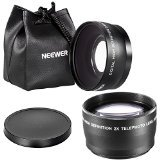 Neewer Digital 55mm 2X Telephoto lens + 55mm Macro Wide Angle Lens 0.45X High Definition For Sony DSLR A230 A350 A300 A330 A500 A700 A900 A100