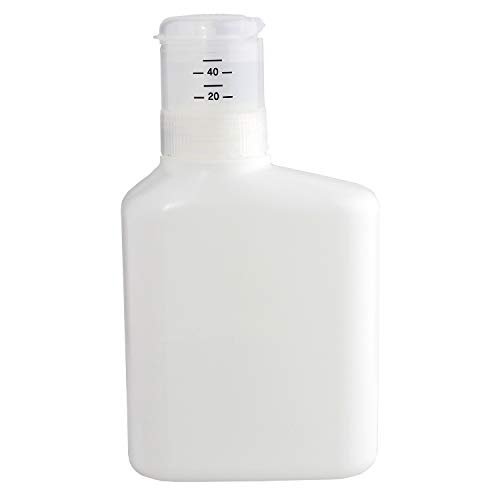 렉 눌러 계량 리필 세제 병 1000ml (액체 세제 용) 무지 화이트 디자인 씰 W00108 / Lec Press and WeighIng Detergent Bottle 1000ml (for Liquid Detergent) Plain White With Design Seal W00108