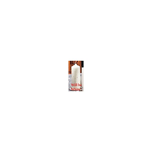 Jewelry Adviser Gifts White Celebrity Simulated Pearl and Crystal Pillar Candle