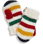 NEW Hudsons Bay Company Striped Baby Mittens Sz 12-24 Mths