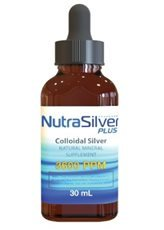 NutraSilver Plus Colloidal Silver Kills Harmful Germs Quickly Safe & Natural Anti-Microbial l 3,600 PPM Tested Highest Quality New Eye Dropper (4-Pack 30ml Bottles)