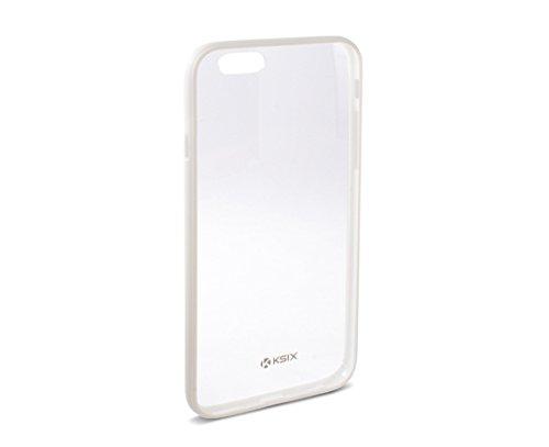 Ksix B0926CF02 Hard Cover Fusion für Apple iphone 6 Plus transparent/weiß