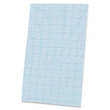 Cross-Section Pad,Ruled 10x10,20lb.,40 Shts,8-1/2''x14'',WE, Sold as 1 Pad, 40 Each per Pad