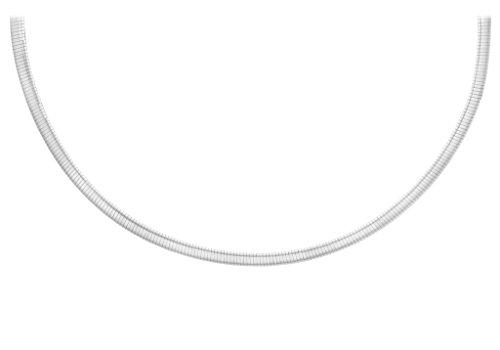 """9ct or 2couleurs 400-Collier Femme-Chaîne Serpent Omega 41cm/16"""""""