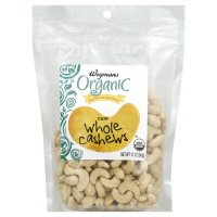 Wegmans Raw Whole Cashews, Organic, 12oz