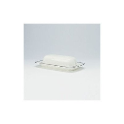 Noritake Aegean Mist Covered Butter Dish