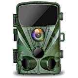 "TOGUARD Trail Game Camera 20MP 1080P Hunting Cameras with Night Vision 2.4"" LCD 130° Detection Motion Activated Waterproof Deer Trap Cam Design for Wildlife Monitoring and Home Security"