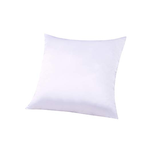 ZIMASILK 100% Mulberry Silk Pillowcase for Hair and Skin,Square Couch Cushion Cover with Hidden Zipper,Both Sides 19 Momme Silk, 1pc (Throw 18''x18'', White)