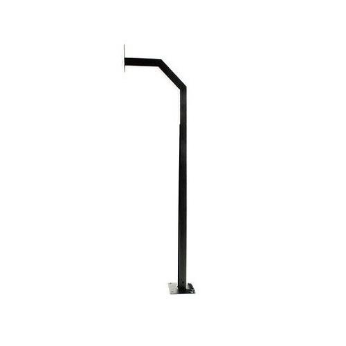 (ALEKO LM107 Universal Mounting Post Gate Entry Gooseneck Curb Type Keypad Stand 51 Inches Tall Black)