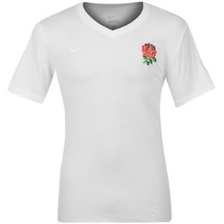 England RFU vintage con scollo a V bianco