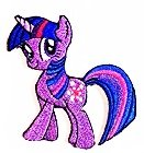 Purple My Little Pony Unicorn Horse Comics 2.8 x 2.8 inches cartoon patch Jacket T- shirt Patch Sew Iron on Embroidered Badge Sign Costum (My Little Pony Costums)
