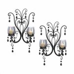 Eastwind Gifts 10015106 Midnight Elegance Candle Wall Sconces