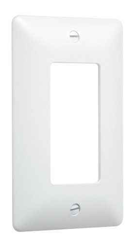 TayMac 5000W Paintable Masque Wall Plate Cover, White, 1-Gang