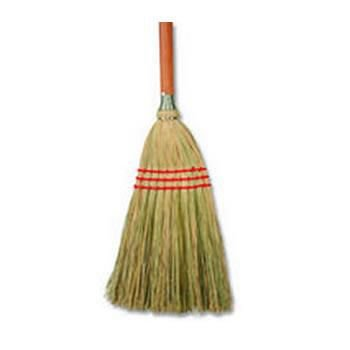 BOARDWALK Corn/fiber Lobby Brooms, 36'', Gray/natural, 12/carton