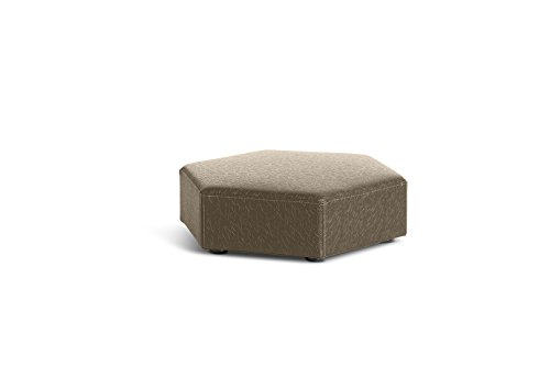 Logic Furniture HONEYTP06 Honeycomb Ottoman, Taupe by Logic Furniture