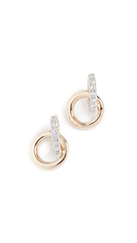 Adina Reyter Women's 14k Diamond Interlocking Loop Post Earrings, Yellow Gold, One Size