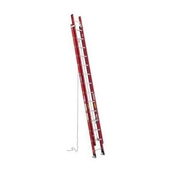 Werner 40 Ft Fiberglass Ex Extension Ladders Amazon Com