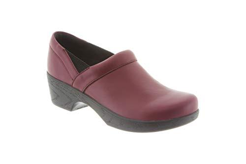 Klogs Footwear Women's Portland Leather Closed-Back Clog Burgundy
