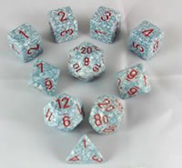 Air Elemental Polyhedral Dice Set - 10pc Set in (Dice Set 10pc Set In Tube)