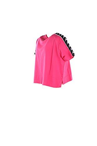 222 Kappa 976 T Fuchsia shirt 303wgq0 White Black Manches Courtes Apua Banda qgqpF