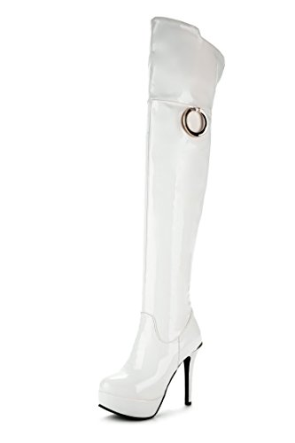 CXQ-Boots qin&X Women's Stiletto High Heels Long Boots Shoes White