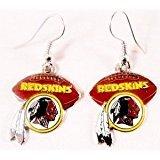 (Washington Redskins NFL Football Style Dangle Earrings)