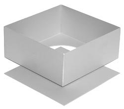 Silverwood Loose Base Square Cake Tin - 7 Inch by Alan Silverwood 14073