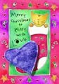 NEW! Merry Christmas Kitty with Love – Catnip Toy Greeting Card, My Pet Supplies