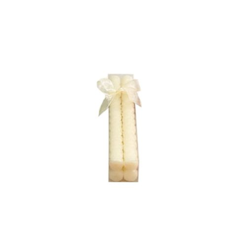 Set of 4 - White (Woven Taper Candles)