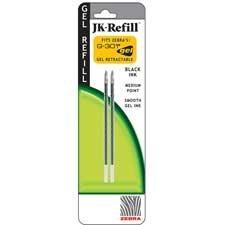 Zebra JK Refills for G301Gel Rollerball Pens, Medium Point, 2/Pack, Black Ink, PK – ZEB88112, Office Central