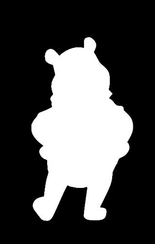 LLI Winnie The Pooh | Decal Vinyl Sticker | Cars Trucks Vans Walls Laptop | White | 5.5 x 3.1 in | LLI1115]()