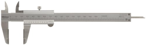 Mitutoyo 530-501 Vernier Caliper, Stainless Steel, 0-600mm Range, +/-0.1mm Accuracy, 0.05mm Resolution